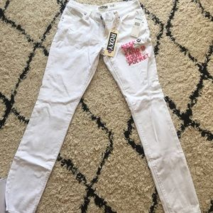 Roxy Super Skinny White Jeans